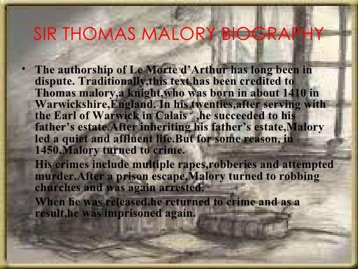 Sir Thomas Malory summary
