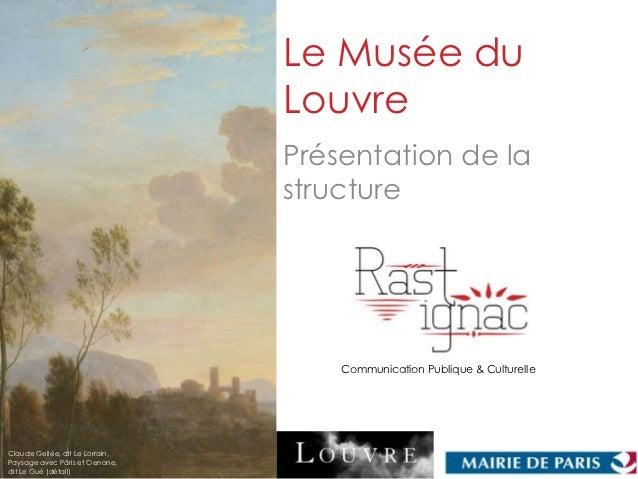 Le Musée du                                 Louvre                                 Présentation de la                     ...