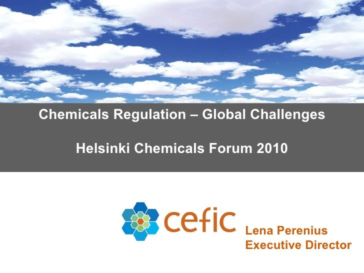 Lena Perenius of Cefic discusses global chemicals regulation