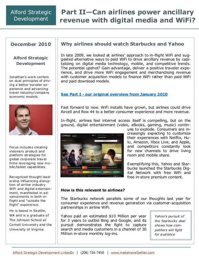 Part II Dec 2010 - Can airlines power ancillary revenue with digital media and better WiFi platforms?