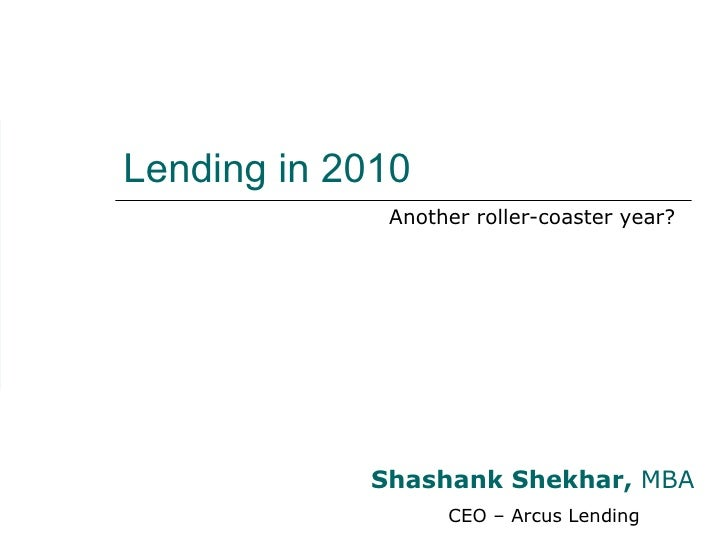Mortgage Financing in 2010