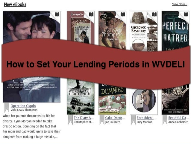 How to Set Your Lending Periods in WVDELI