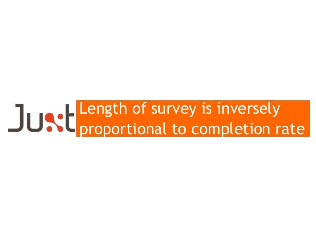 Length of survey is inversely proportional to completion rate