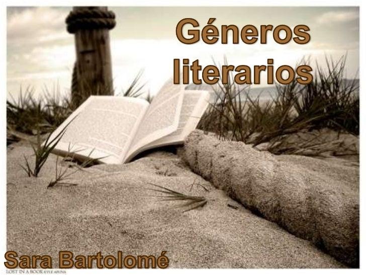 Lengua géneros literarios