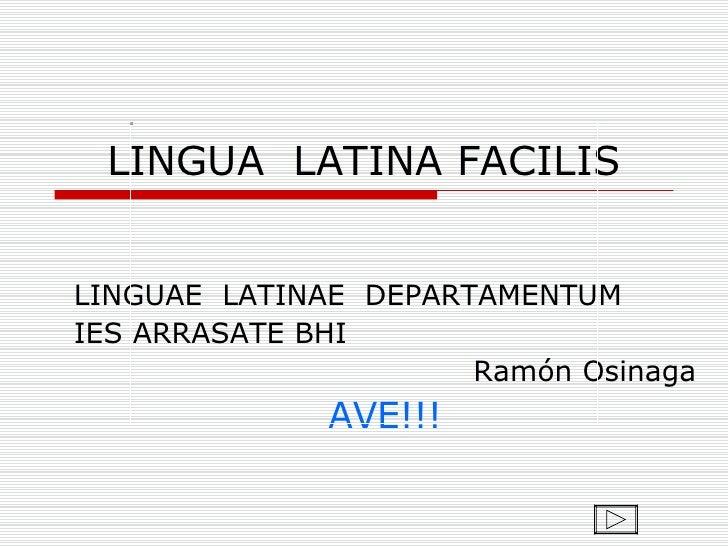 lengua latina: