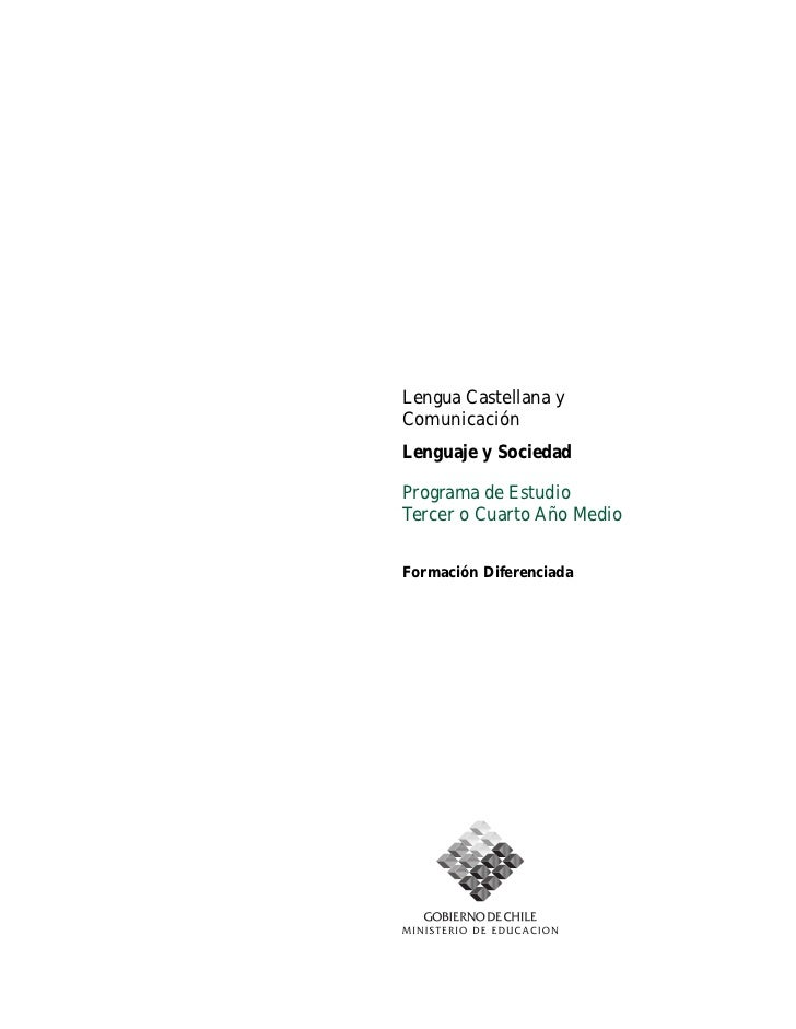 Tercer Año Medio Lengua Castellana y Comunicación Ministerio de Educación                                                 ...