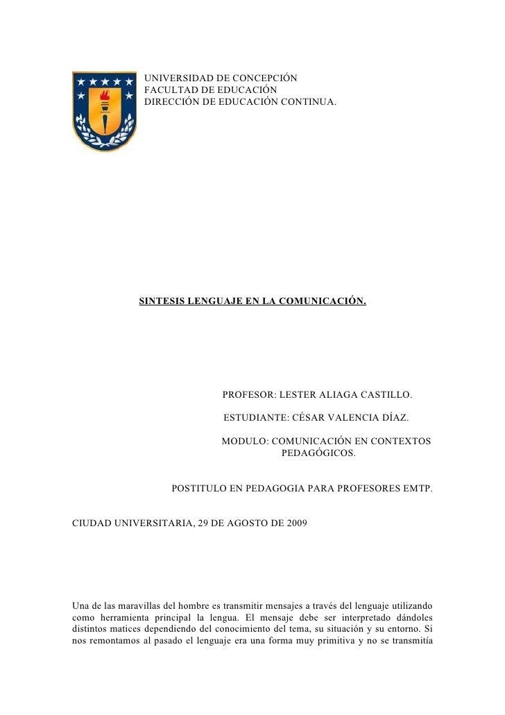 UNIVERSIDAD DE CONCEPCIÓN                  FACULTAD DE EDUCACIÓN                  DIRECCIÓN DE EDUCACIÓN CONTINUA.        ...