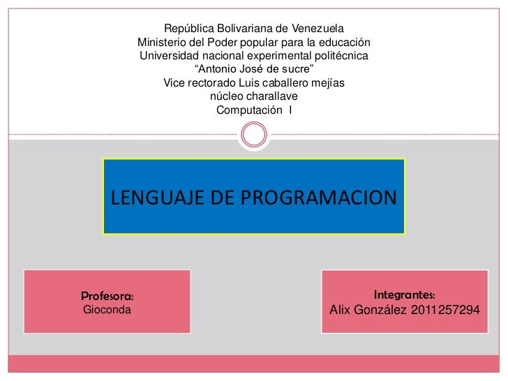 República Bolivariana de Venezuela             Ministerio del Poder popular para la educación             Universidad naci...