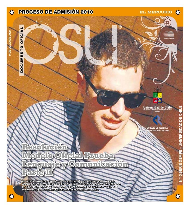 PROCESO DE ADMISIÓN 2010                     DOCUMENTO OFICIAL9 DE JULIO DE 2009                                          ...