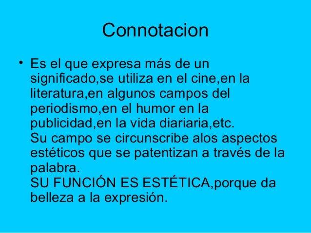 Ejemplos de denotacion y connotacion yahoo dating 9