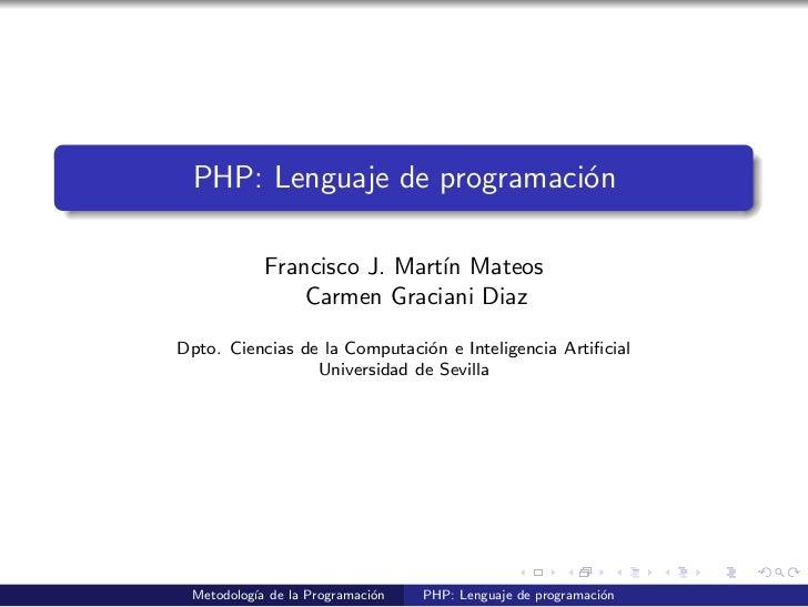 Lenguaje de programacion php