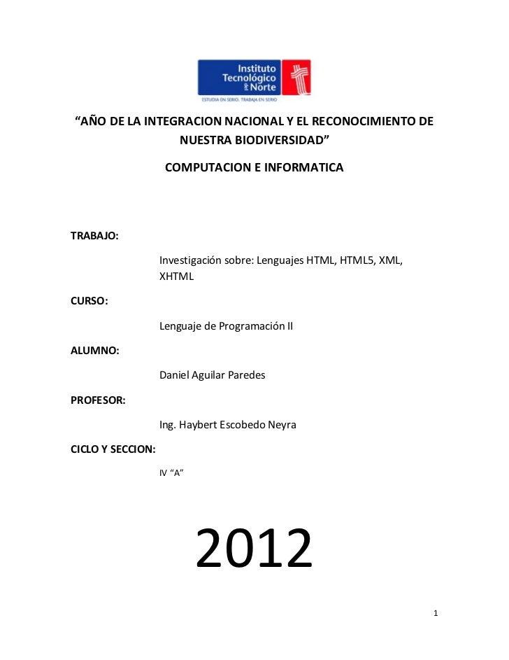 """""""AÑO DE LA INTEGRACION NACIONAL Y EL RECONOCIMIENTO DE                NUESTRA BIODIVERSIDAD""""                    COMPUTACIO..."""