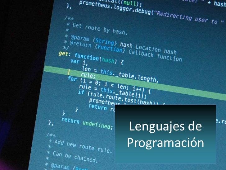 Lenguajes deProgramación