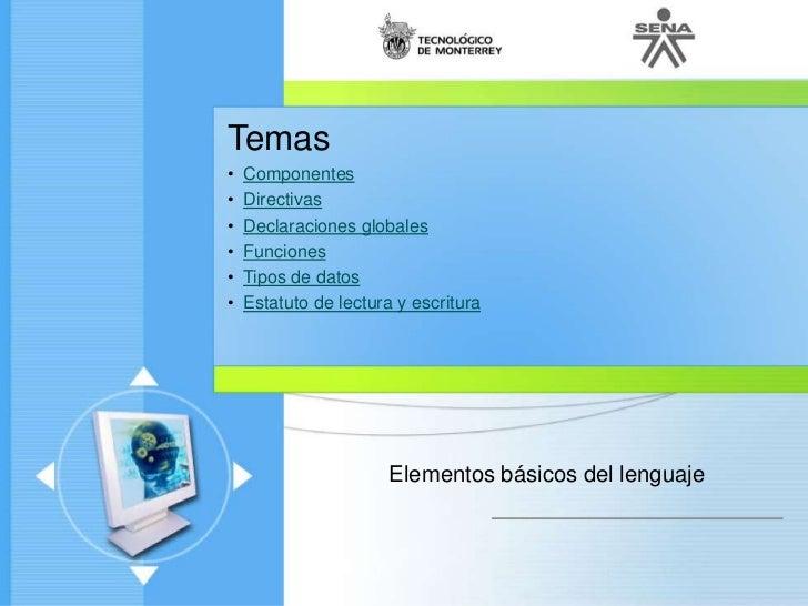 Lenguajesdeprogramacion c nivel1-unidad1-01-componentes y tipos de datos_1