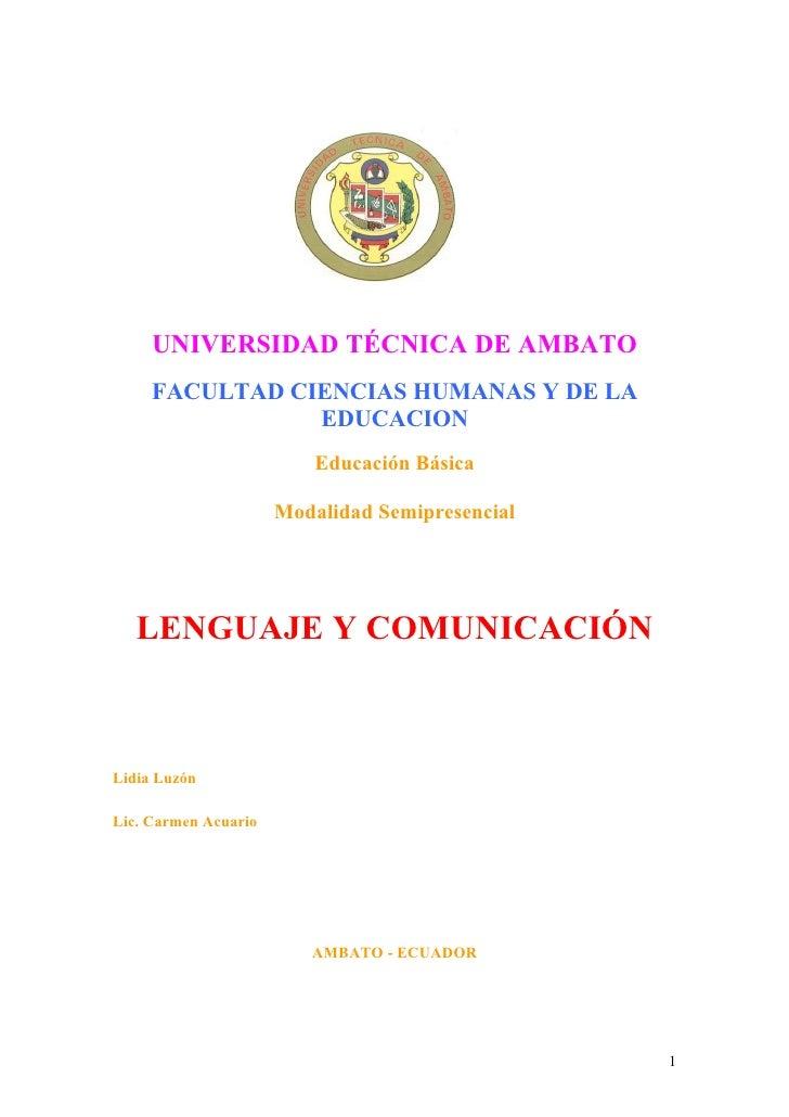 UNIVERSIDAD TÉCNICA DE AMBATO     FACULTAD CIENCIAS HUMANAS Y DE LA                EDUCACION                          Educ...