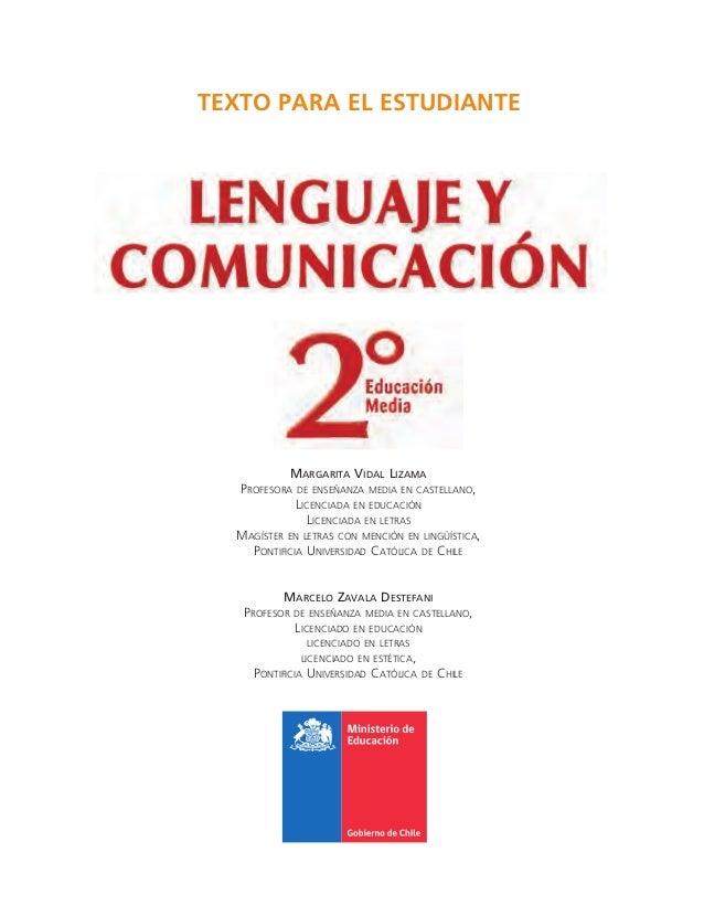Lenguaje y comunicación 2° medio