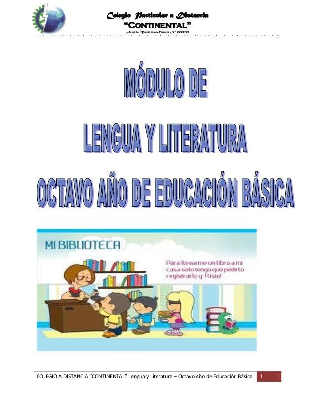 Modulo de Lengua literatura 8_año