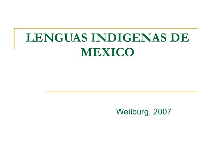 lenguas indigenas en la republica:
