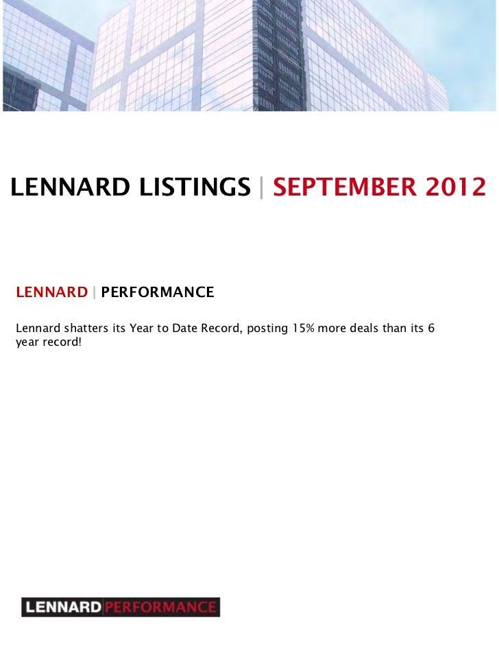 Lennard   september commercial office space for lease