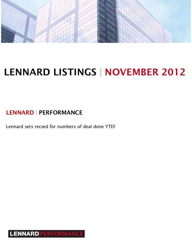 Lennard listings november