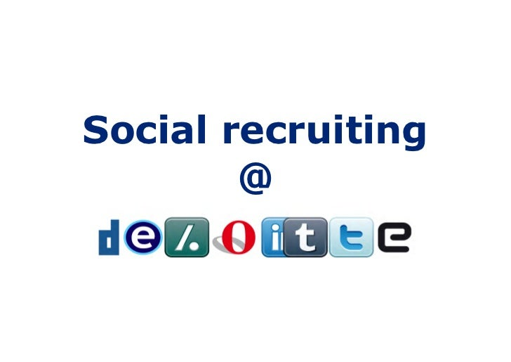 Social Recruiting at Deloitte NL