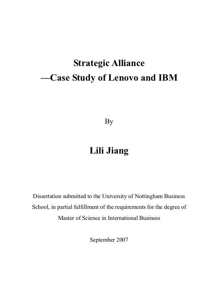 case analysis of lenovo m a ibm Study, we employed a comparative case-study method and focused on two high- profile chinese cross-border m&a deals: lenovo's acquisition of ibm's pc unit in 2005 and does not translate automatically into strong competitive market positions or high performance (king et al, 2004 seth, song, & pettit, 2002) because.