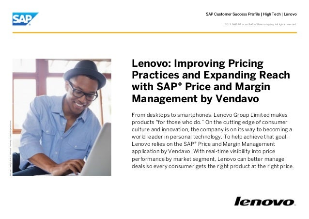 SAP Customer Success Profile | High Tech | Lenovo ©  2013 SAP AG or an SAP affiliate company. All rights reserved.  Pictur...