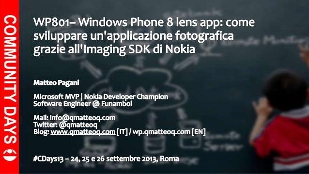 Lens App and Imaging SDK for Windows Phone