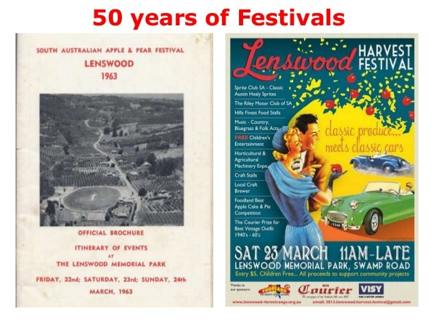 Lenswood Festivals