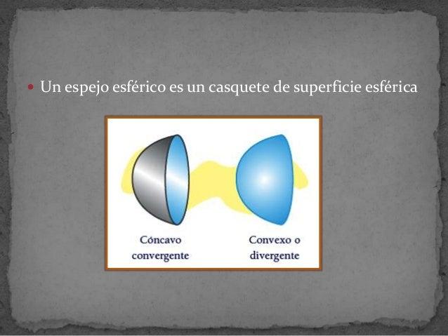  Un espejo esférico es un casquete de superficie esférica