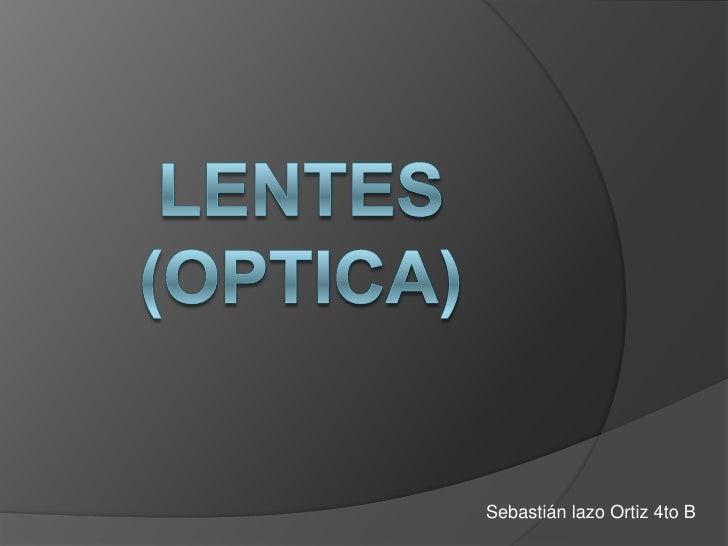 Lentes (optica)