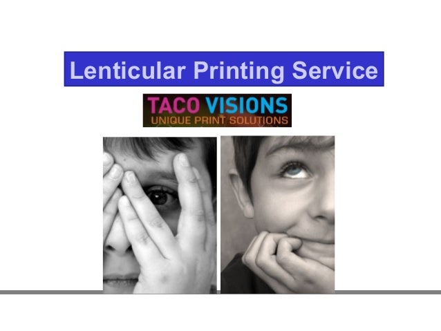 Lenticular Printing Services Lenticular Printing Service