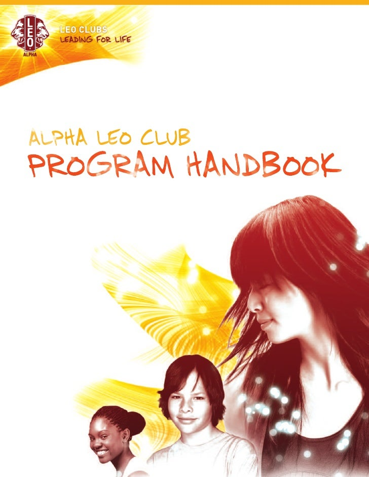 ALPHA LEO CLUBPROGRAM HANDBOOK