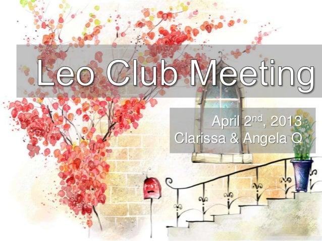 Leo club april 2nd ppt.