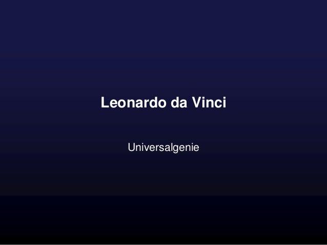 Leonardo da Vinci Universalgenie