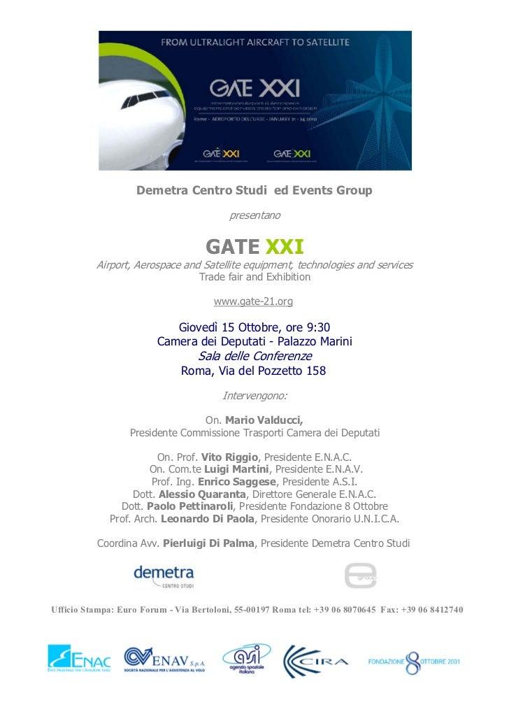 Demetra Centro Studi ed Events Group                                         presentano                                   ...