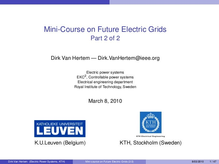 Mini-Course on Future Electric Grids                                                           Part 2 of 2                ...