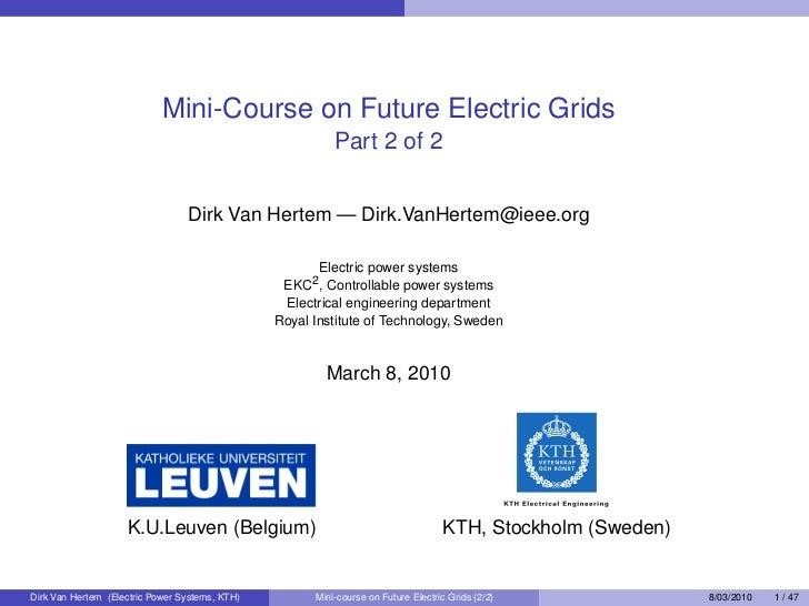 Future Electricity Grids 2/2