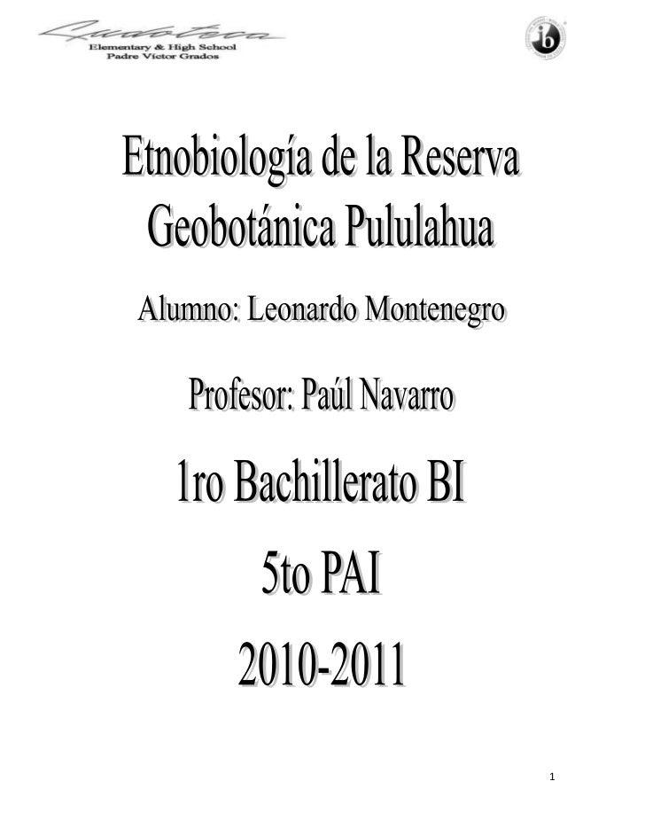Introducción<br />La Reserva Geobotánica Pululahua está a 17 km al norte de Quito, cerca de La Mitad del <br />Mundo en la...