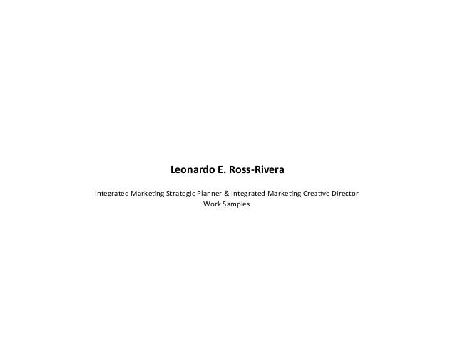 Integrated Marketing Portfolio 2013