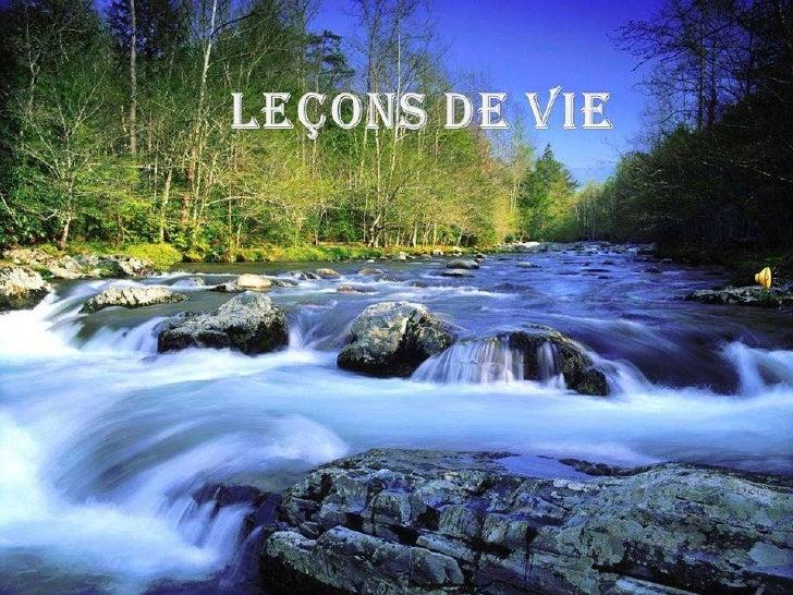 Leçon de vie  - belles  photos de cascades et montagne