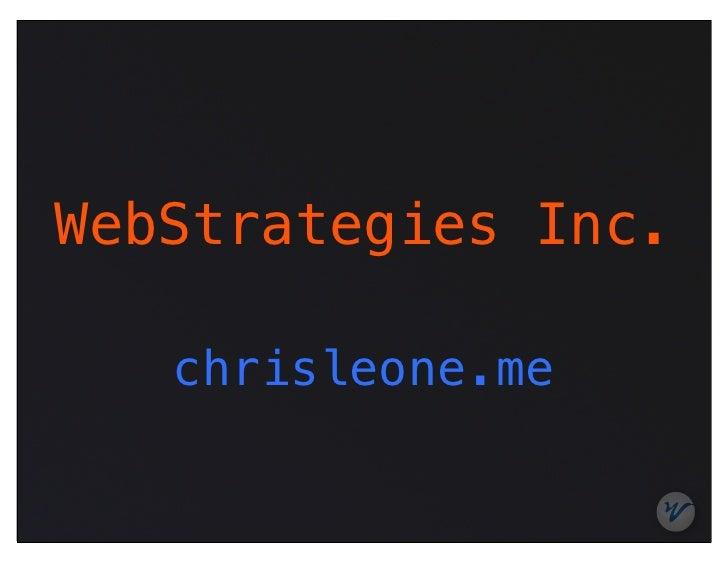 WebStrategies Inc.   chrisleone.me