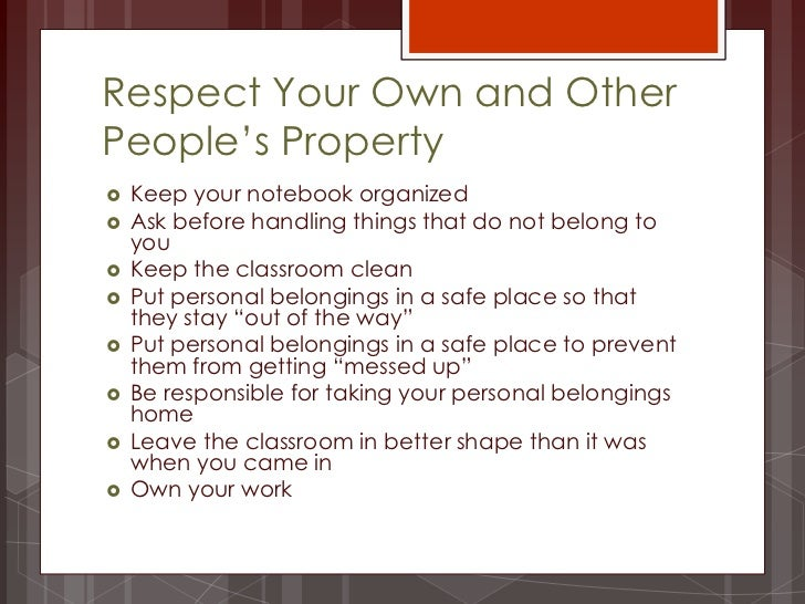 essay on respecting property of others