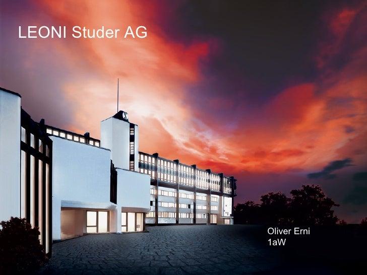 LEONI Studer AG Oliver Erni 1aW