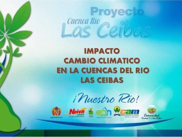 IMPACTO CAMBIO CLIMATICO EN LA CUENCAS DEL RIO LAS CEIBAS
