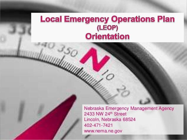 Nebraska Emergency Management Agency2433 NW 24th StreetLincoln, Nebraska 68524402-471-7421www.nema.ne.gov