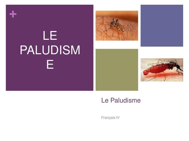 +       LE    PALUDISM        E               Le Paludisme               Français IV