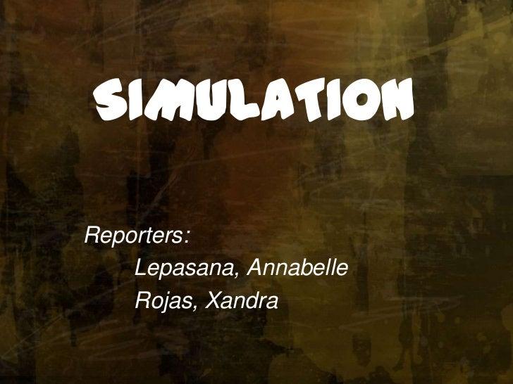 Lepasana & rojas on simulation