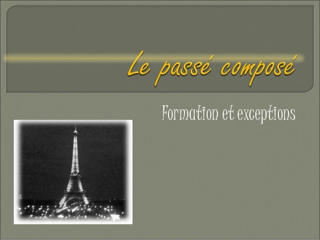 Formation et exceptions