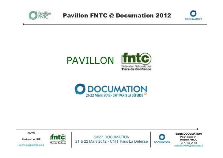 Pavillon FNTC @ Documation 2012                           PAVILLON        FNTC                                            ...